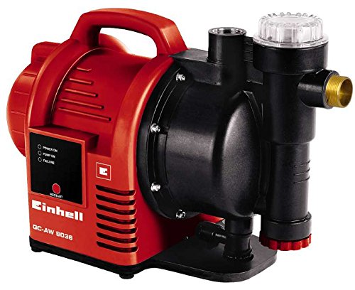 Einhell Hauswasserautomat GC-AW 9036 (900 W, 3600 l/h Fördermenge, max. Förderhöhe 43 m, elektr. Durchflussschalter, Automatikfunktion)